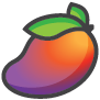Mauve Mango Full Mango package icon illustration